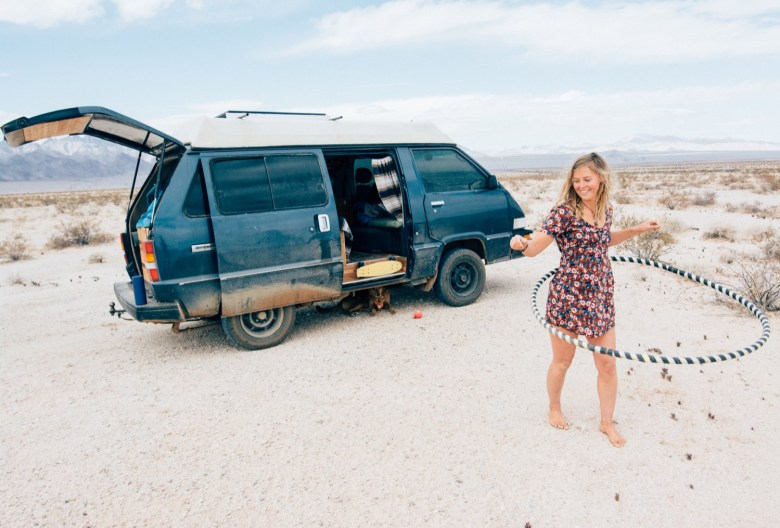 Solo Female Living out of an 87 Toyota Van 008