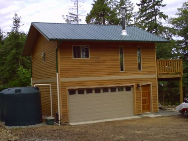 Garage Tiny House With Water Collection