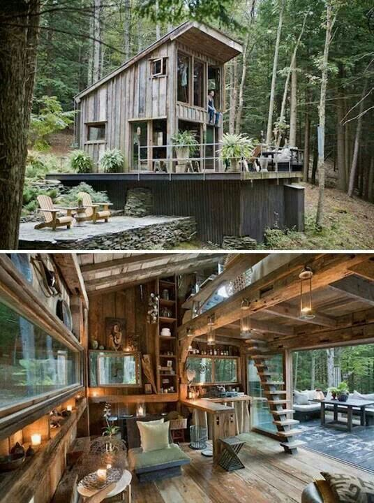 Rustically Awesome Small Cabin In The Woods Tiny House Pins