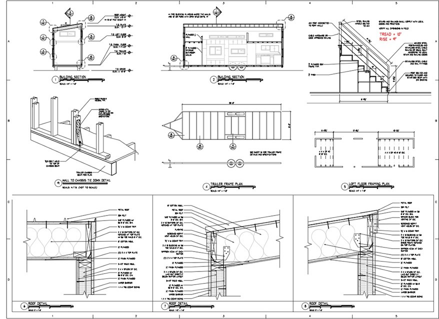 Home Tiny House 28 X8 6 Tiny House Plans | Stairs In House Plans | Residential | Upstairs Dream House | Grand Staircase | Sweeping Staircase House | Balcony