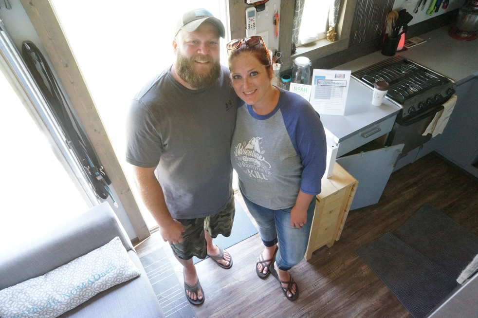 Ross and Sheena in their tiny house, Method to NOMADness