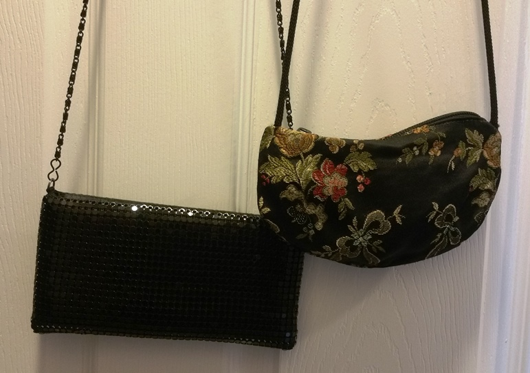 Declutter purses for the thrift store