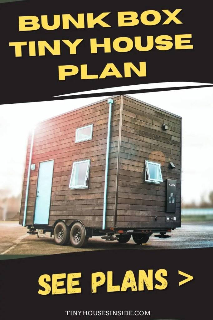 Bunk Box Tiny House one bedroom Plan