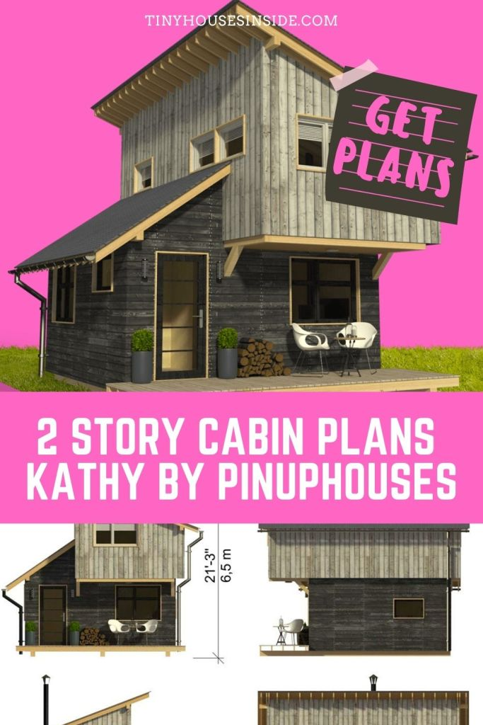 Cabin Plans Kathy by Pinuphouses