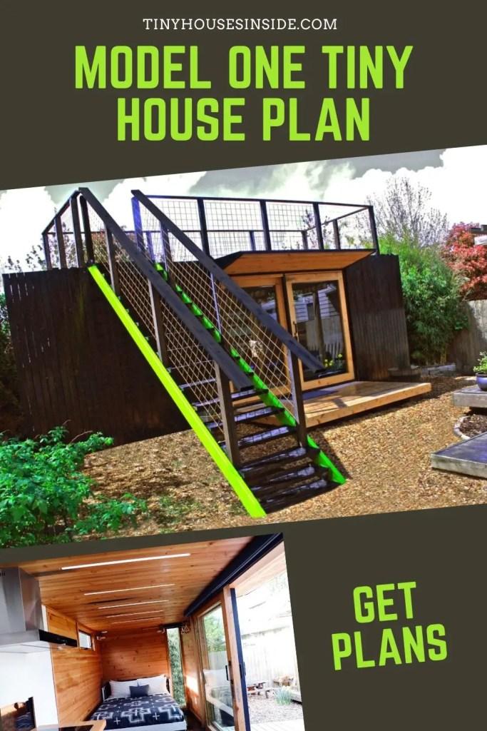 Model One Tiny House plan 2 story