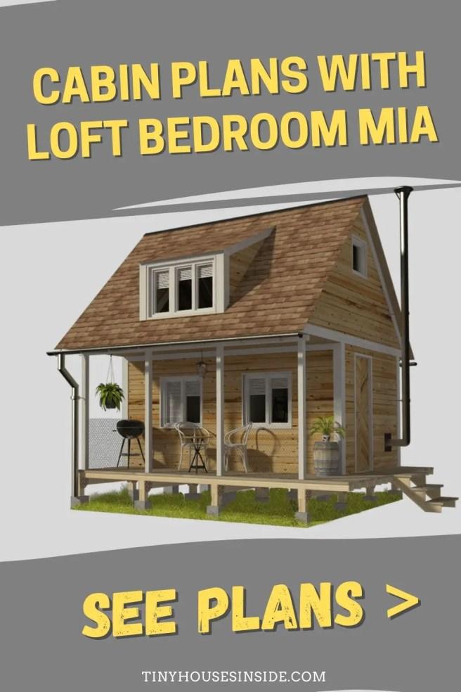 Cabin Plans with Loft bedroom Mia
