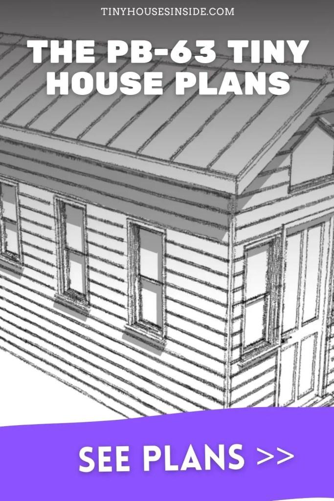 The PB-63 tiny house plans