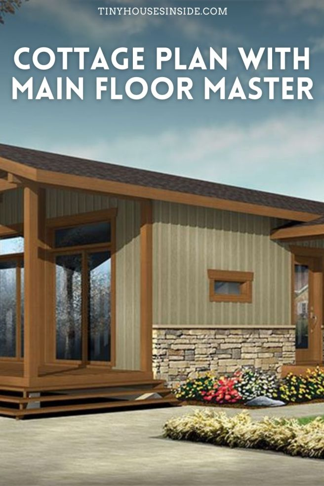 cottage plan with Main floor master