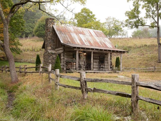 100 year old tiny log cabin in green mountain for Cottage builders nc