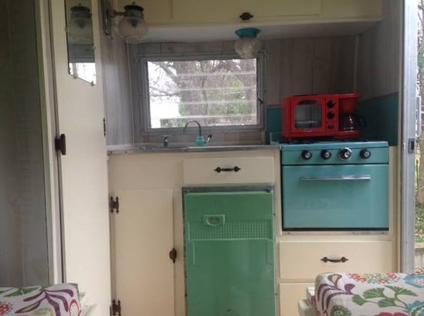1960 12' Tiny Camping Trailer For Sale