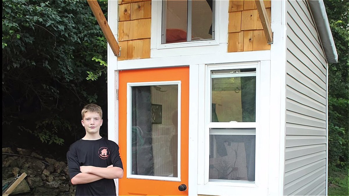 13 year old builds tiny cabin for  1500