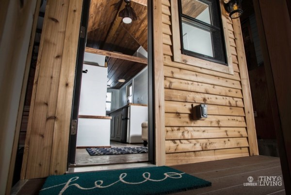 154 Sq Ft Roving Tiny House on Wheels by 84 Lumber Tiny Living 001