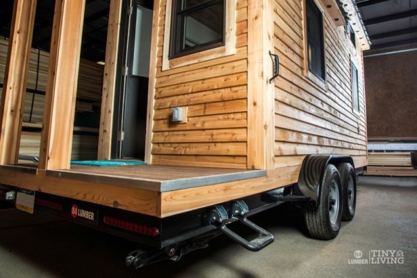 154 Sq Ft Roving Tiny House on Wheels by 84 Lumber Tiny Living 002