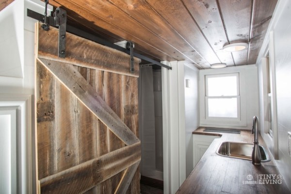 154 Sq Ft Roving Tiny House on Wheels by 84 Lumber Tiny Living 004