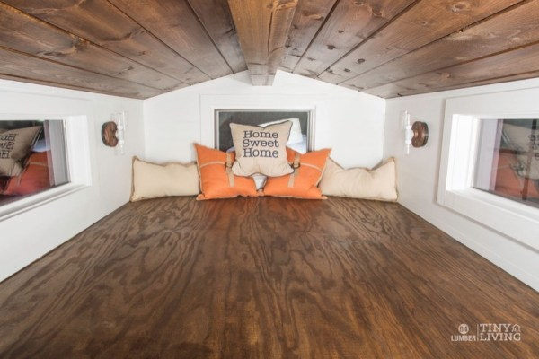 154 Sq Ft Roving Tiny House on Wheels by 84 Lumber Tiny Living 006a