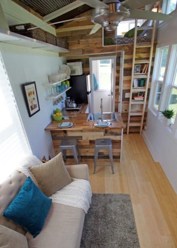 interior view of tiny house