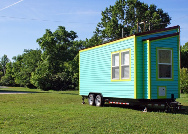 exterior view of tiny house