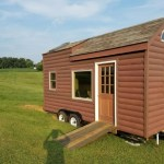 18ft Log Cabin Style Tiny House on Wheels For Sale on eBay 001