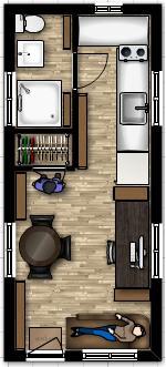 19 x 18 tiny house floor plan with - Tiny House Floor Plans