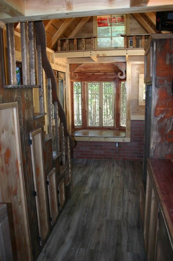 1904 Rustic Vintage Tiny House with Loft Balcony 004