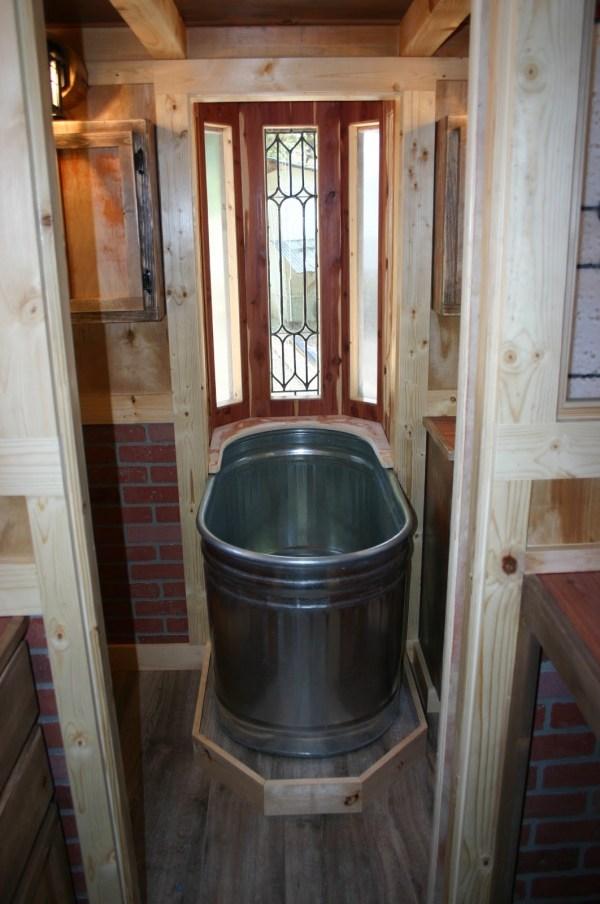 1904 Rustic Vintage Tiny House with Loft Balcony 006