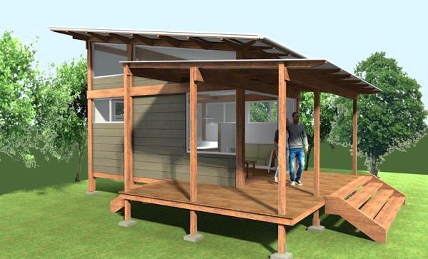 200 sq ft Pavilion Tiny House 001