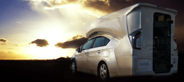 Four Can Sleep Comfortably in this Toyota Prius RV