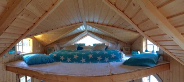 sleeping loft in cottage