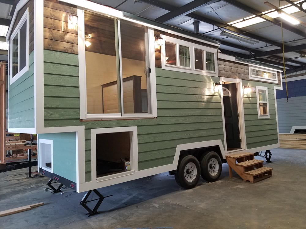 28ft tiny house with unique layout