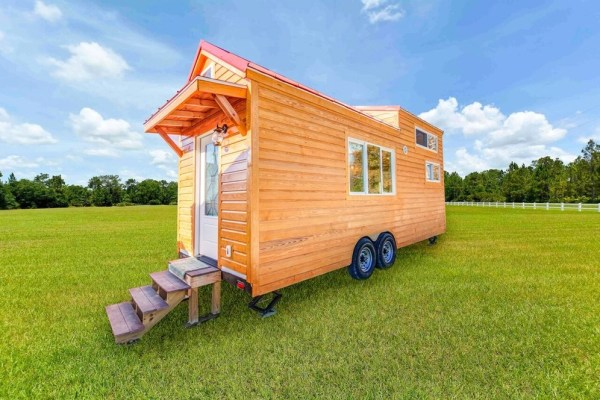 290sf Tiny House on Wheels with Downstairs Bedroom For Sale in Durham, NC 001
