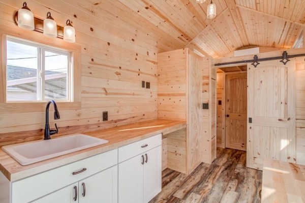 290sf Tiny House on Wheels with Downstairs Bedroom For Sale in Durham, NC 005