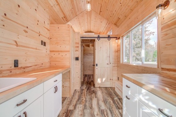 290sf Tiny House on Wheels with Downstairs Bedroom For Sale in Durham, NC 006