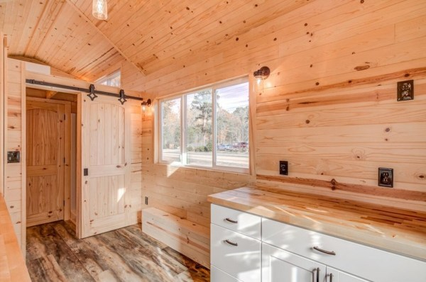 290sf Tiny House on Wheels with Downstairs Bedroom For Sale in Durham, NC 008