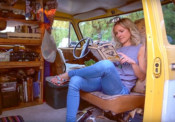 Woman Living In A Van For 3 Years To Save Money And Travel