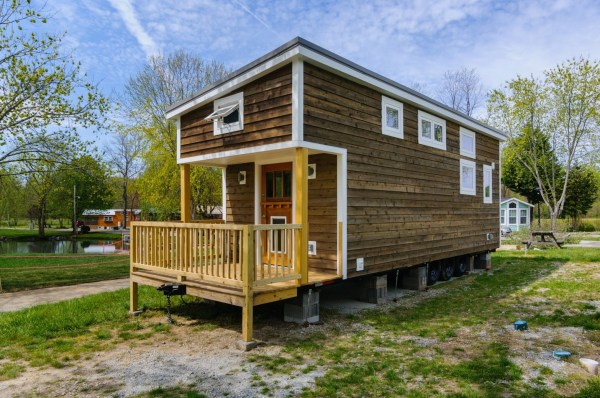 300 Sq Ft Custom Tiny Home on Wheels by Wishbone Tiny Homes 0023