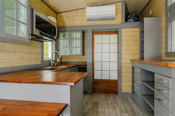 300 Sq Ft Custom Tiny Home on Wheels by Wishbone Tiny Homes 006