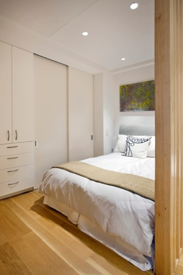 bed in small apartment
