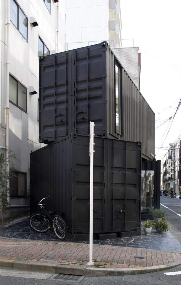387 Sq Ft Modern Stacked Shipping Containers