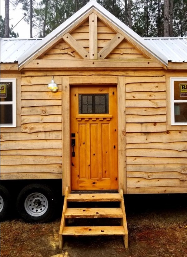 39ft Rustic Gooseneck Tiny House on Wheels For Sale in Conway South Carolina 009