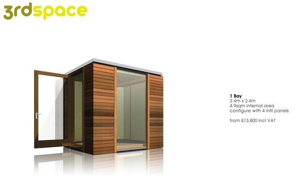 3rdSpace - Modular Backyard Office Sheds - 1 Bay