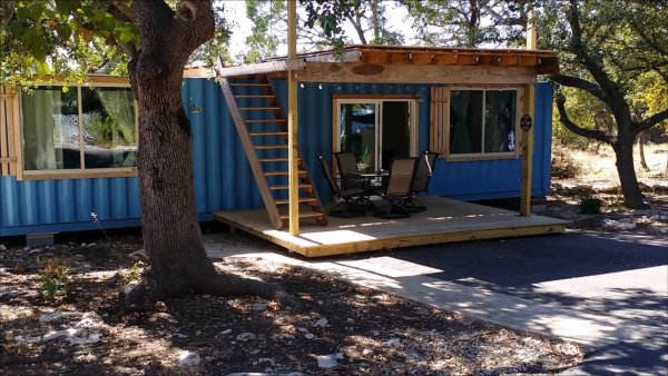 40x8 shipping container tiny home
