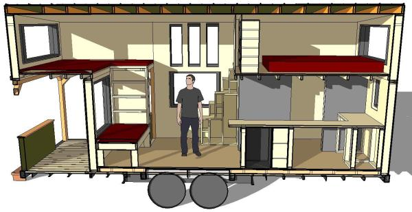 Sketch-Up concept of design from Joe Luker's blog.