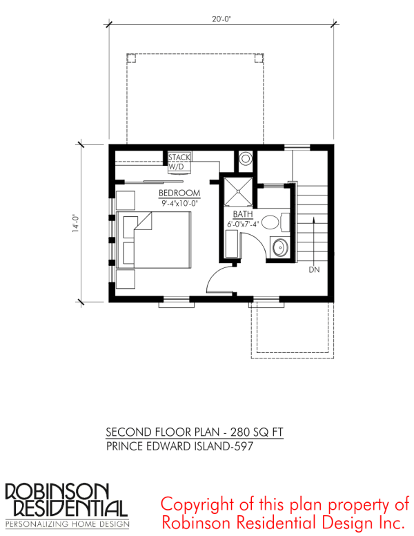 Prince edward island 597 sq ft small home for Robinson house plans
