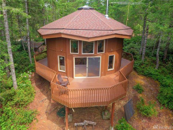 900 Sq Ft Round Cabin in Tahuya WA 0024