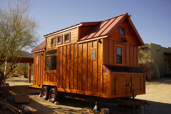Aarons Craftsman Tiny Home on Wheels using Modified Dan Louche Plans 0021