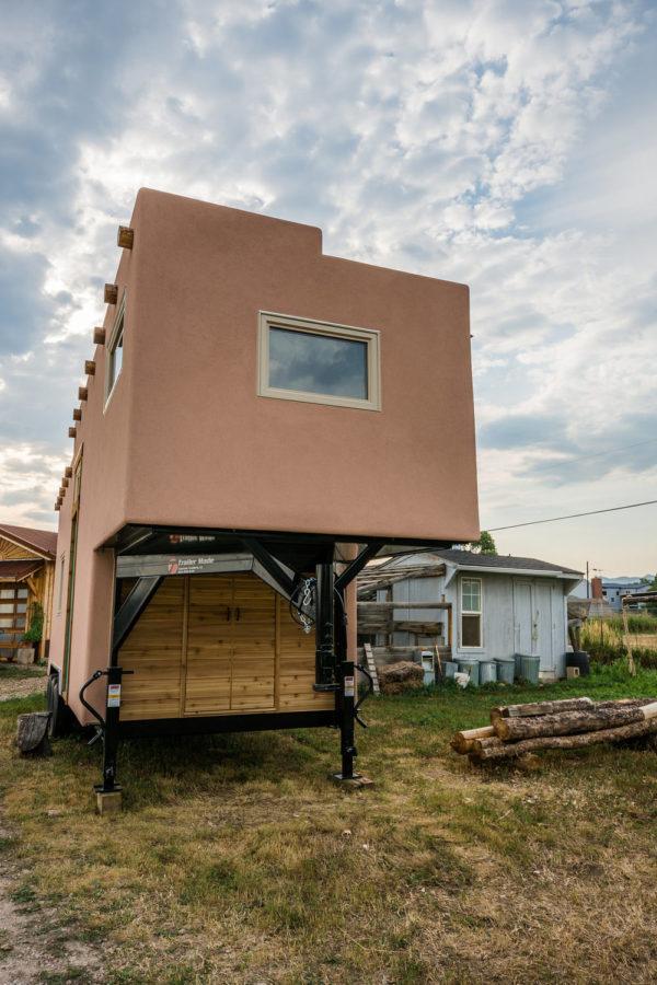 Adobe Style Tiny House On Wheels