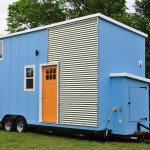 Baby Blue Tiny House For Sale by Indigo River Tiny Homes 001