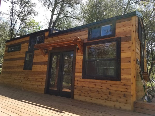 Beautiful 28ft Cedar Tiny House with Custom Deck by KJE Tiny Homes 0010