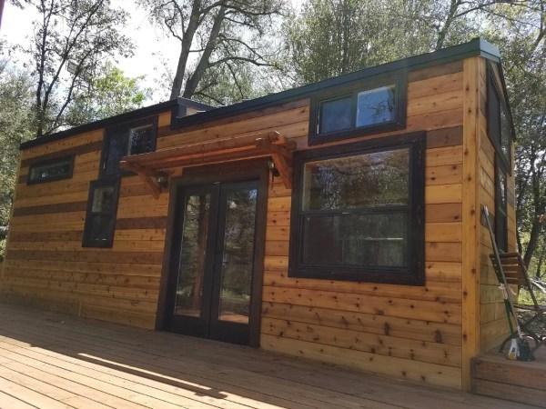 Beautiful 28ft Cedar Tiny House with Custom Deck by KJE Tiny Homes 0010