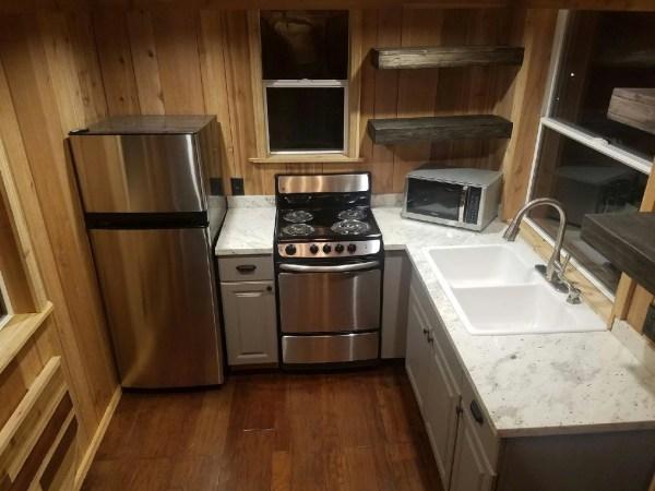 Beautiful 28ft Cedar Tiny House with Custom Deck by KJE Tiny Homes 002